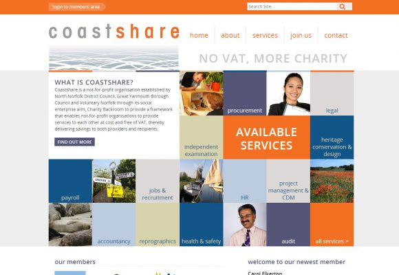 Picture of Coastshare home page