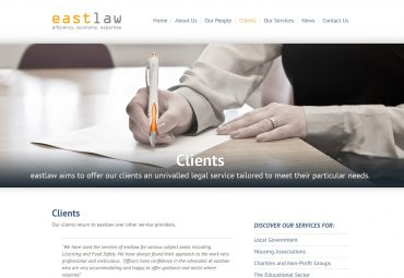 Picture of eastlaw web page