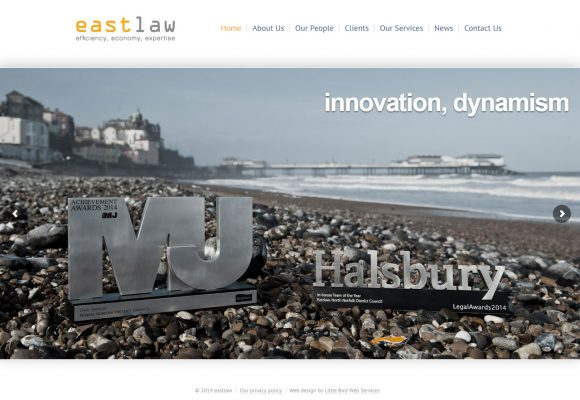 Picture of eastlaw home page