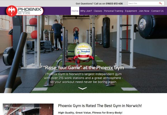 Picture of Phoenix Gym Home Page