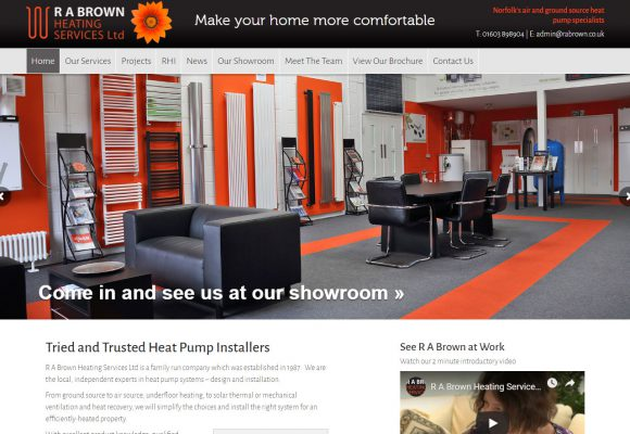 Picture of R A Brown home page