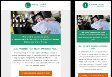 PIcture of Ramsey Crookall HTML email designs