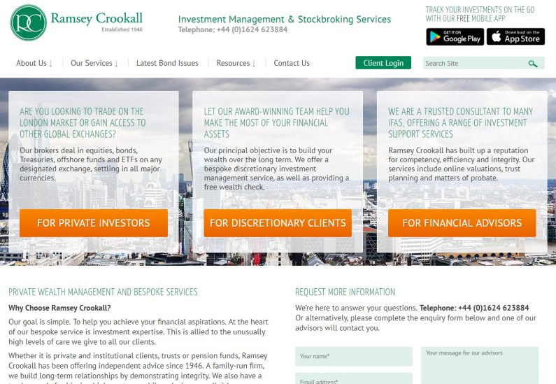 Image of Ramsey Crookall website home page