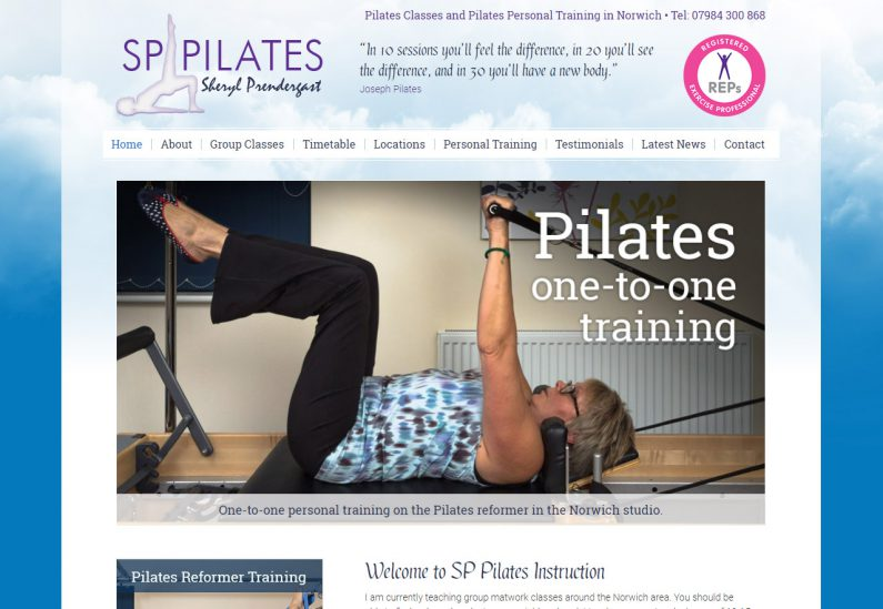 Picture of SP Pilates home page