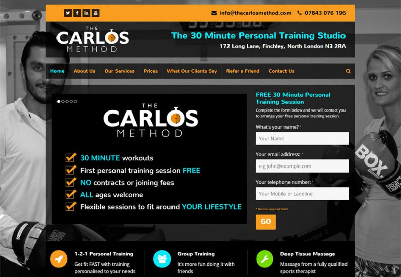 Picture of The Carlos Method home page