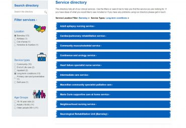 Picture of South West Yorkshire NHS - Service Directory