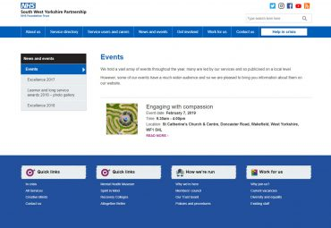 Picture of South West Yorkshire NHS - Events page