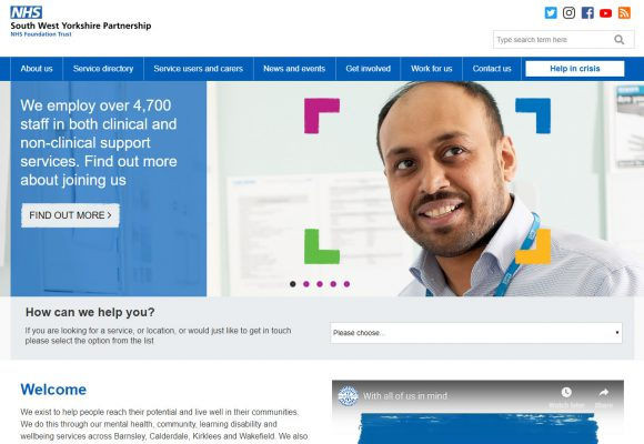 Picture of South West Yorkshire NHS Trust - home page