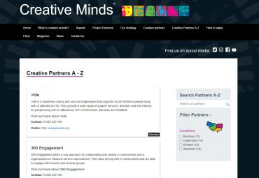 Picture of Creative Minds- project microsite