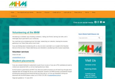 Picture of Mental Health Museum micro site